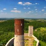 Chęciny - Zamek królewski, widok z wieży